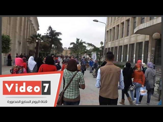 استمرار الدراسة بجامعة القاهرة رغم سوء الأحوال الجوية