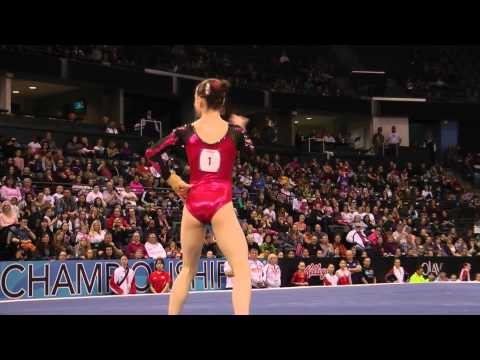 Alexandra Eade - Jr Floor Exercise Finals - 2012 Kellogg&#039;s Pacific Rim Championships - 5th