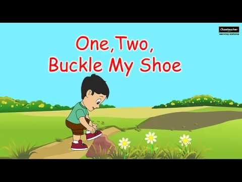 One two buckle my shoe nursery rhyme english poem for for 1 2 buckle my shoe 3 4 shut the door