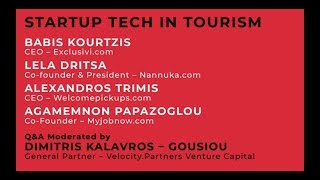 STARTUP TECH IN TOURISM, panel 2