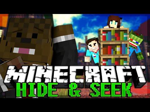 FROZEN Minecraft Hide and Seek w/ JeromeASF & AshleyMariee