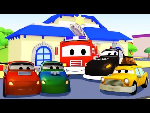 Авто Патруль: пожарная машина и полицейская машина, и Плохие Гоночная машина в Автомобильный Город