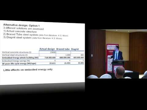 "CTBUH 2012 Shanghai Congress - Dario Trabucco, ""Life Cycle Energy Analysis of Tall Buildings..."""