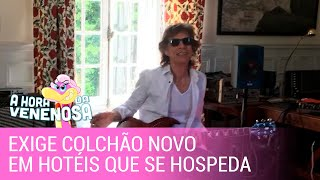 Mick Jagger exige colchão novo em hotéis que se hospeda