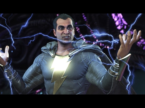 Injustice 2: Black Adam vs. Batman Gameplay in 1080p 60fps