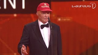 Niki Lauda's Acceptance Speech At The 2016 Laureus Awards