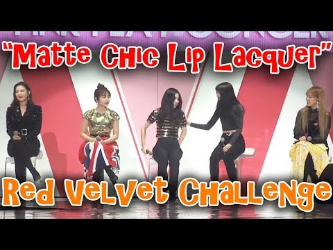 """Red Velvet Speaking English """"Matte Chic Lip Lacquer"""" 레드벨벳 매트시크립마커 영어발음 2018 Etude Pink Play Concert"""
