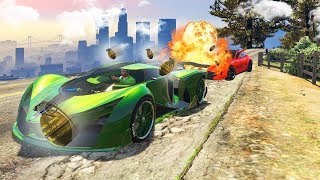 EXTREME DODGE THE 1000 GRENADES CHALLENGE! (GTA 5 Funny Moments)