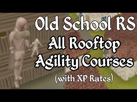 Old School Runescape: All Rooftop Agility Courses (and XP Rates) with Rainy