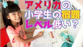 【アメリカの小学生の宿題お見せします!】簡単?むずい?少ない?多い?