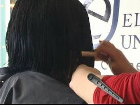 How to Cut an A-Line Bob Hairstyle : Cutting Right Side of Hair for A-Line Hairc