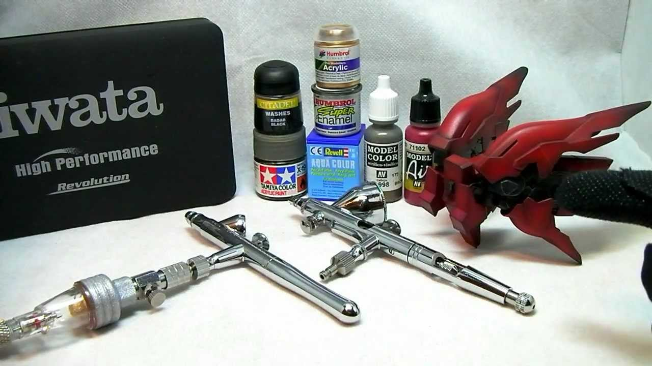 Airbrush painting 2 tips tricks how to hold gundam for Set painting techniques
