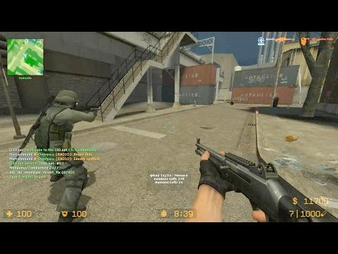 Counter Strike Source - Zombie Riot Mod Predator zombie boss fight online gameplay on Assault Map