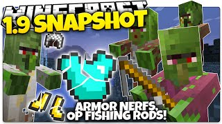 Minecraft 1.9 Snapshot | ARMOR NERF, FISHING ROD OP, COLLISIONS, & MORE! (Minecraft 1.9 News)