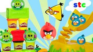 Play Doh Angry Birds Construye y Aplasta Set de Plastilina y Moldes