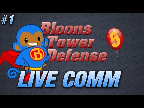 Bloons Tower Defense 5 - Live Commentary Part 1   Ocean Road   Easy Mode (BTD5)
