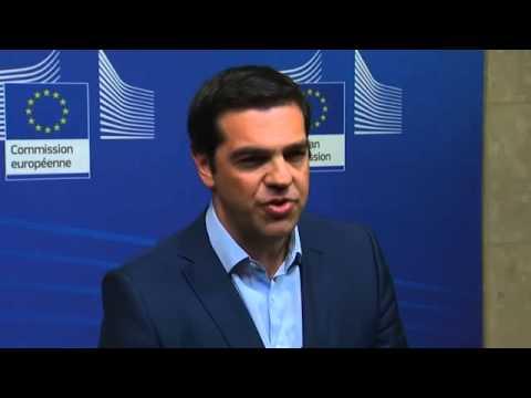 Alexis Tsipras says EU-Greece deal 'close' after meeting Jean-Claude Juncker