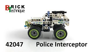 LEGO Technic 42047 Police Interceptor - Unboxing and Speed Build