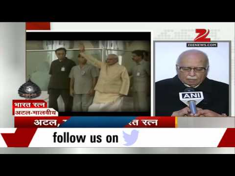 LK Advani hails Bharat Ratna for Atal Bihari Vajpayee