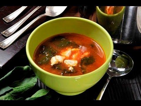 Sopa de espinacas - Spinach Soup