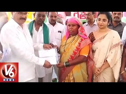 Farmers Obstruct Congress MLA Chinna Reddy Speech At Rythu Bandhu Scheme Launch | V6 News