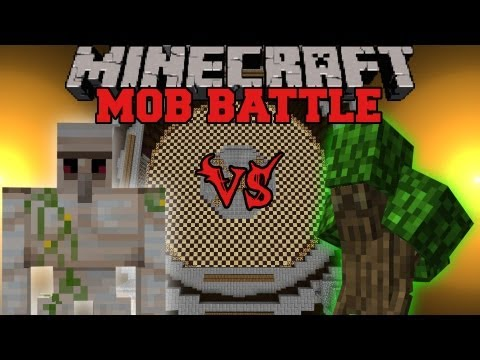 Iron Golem Vs. Ent Lord - Minecraft Mob Battles - Angry Creatures Mod