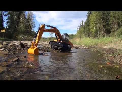 RC ADVENTURES - GOLD Prospecting with an RC 1/12 Scale Earth Digger 4200XL Hydraulic Excavator: