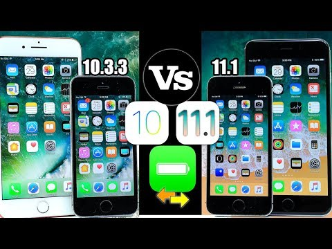 iOS 10.3.3 vs iOS 11.1 Battery TEST | is Apple Doing this on Purpose? iPhone 5S & iPhone 7 Plus