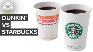 Why Dunkin' Is Taking On Starbucks And Betting On Coffee