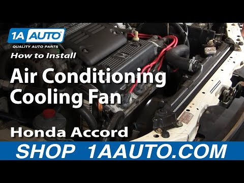 How To Install Replace Air Conditioning Condenser Cooling Fan Accord V6 2.7L 95-