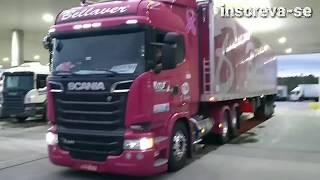 Caminhão da Sheila Bellaver, no posto Sim em Laguna SC, indo para Itapema SC! Vlog22rodas