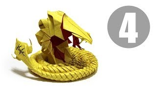 Part4/5 : How to fold Origami Devil Cobra / Hell Cobra 摺紙魔鬼眼鏡蛇教學