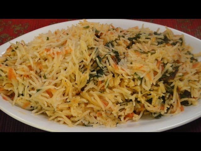 sddefault Spinach & Carrots Pullao   By Hetal & Anuja