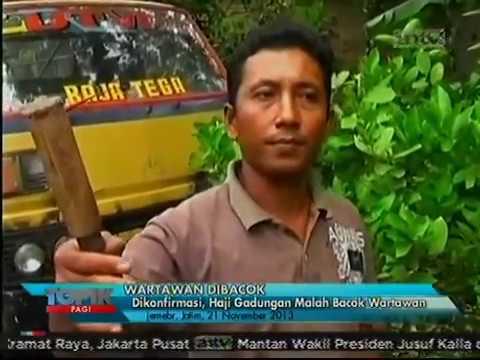 Haji Gadungan Bacok Wartawan di Jember
