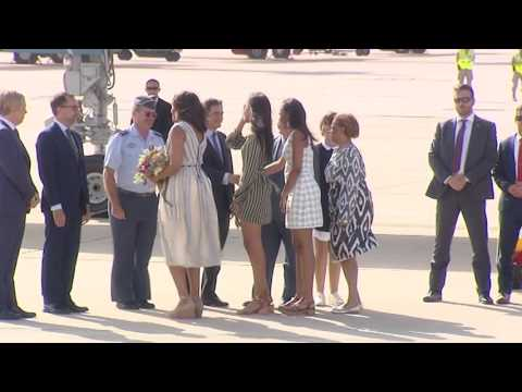 Michelle Obama llega a Madrid