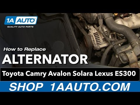 How To Install Replace Alternator Toyota Camry Avalon Solara Lexus ES300 3.0L V6 1AAuto.com