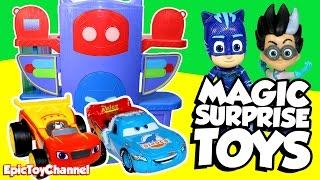 PJ MASKS Surprise Toys Magic with Surprise Eggs, Blaze and Disney Cars Toys Surprises & Paw Patrol