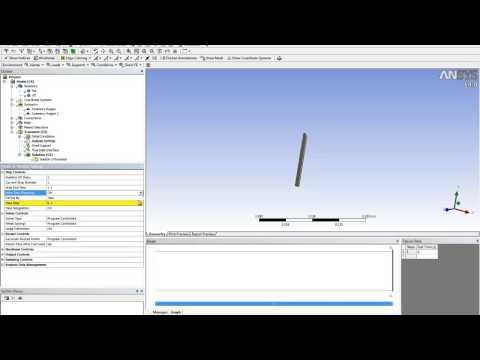 Видеоурок Cadfem Vl1217 - Моделирование колебаний пластины с использованием технологии Fsi video