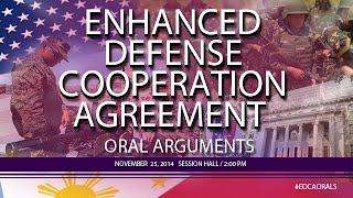 2nd Enhanced Defense Cooperation Agreement (EDCA) Oral Arguments