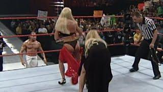 WWF WWE Debra stripped by Sable