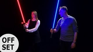 We went to Lightsaber school!
