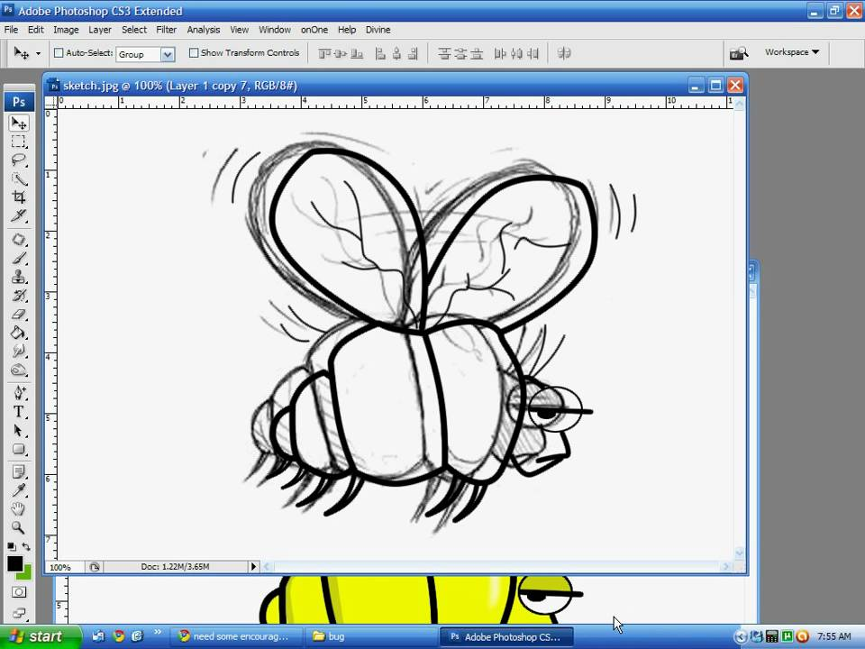 Photo Line Art Converter : Using photoshop to convert hand drawing line art and