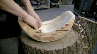 Woodturning - Log fruit bowl