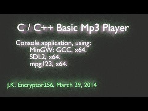 C / C++ Win x32, x64 Basic Mp3 Player