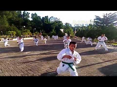 Atraksi Beladiri Master Guru Besar Karate Mamasa