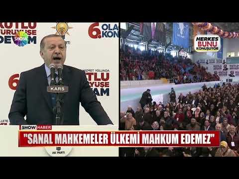 """Erdoğan: """"Sanal mahkemeler ülkemi mahkum edemez"""""""