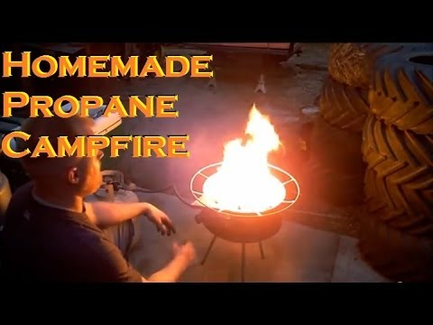Propane Campfire Fire Pit Stove Homemade Youtube