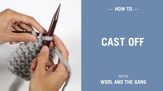 How to cast off your knitting