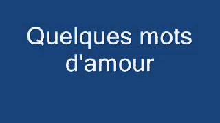 Michel berger  -quelques mots d'amour - YouTube.flv