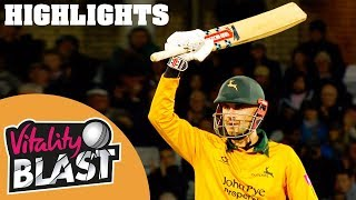 Notts Outlaws v Middlesex | Hales Crashes 7 Sixes In Super Knock | Vitality Blast 2019 - Highlights